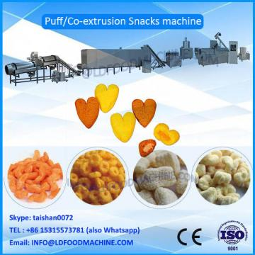 corn wheat rice puff snack extruder production line