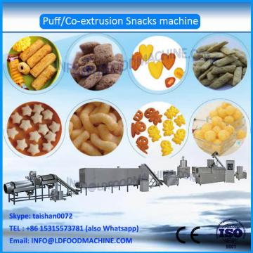 Twin screw extruder puff corn snack make machinery
