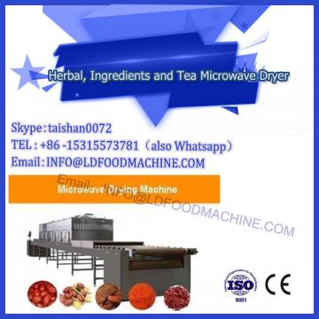 automatic high quantity tunnel continuous microwave food dryer machine