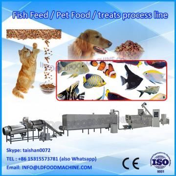 China automatic twin-screw dog food production equipment/poultry food making line