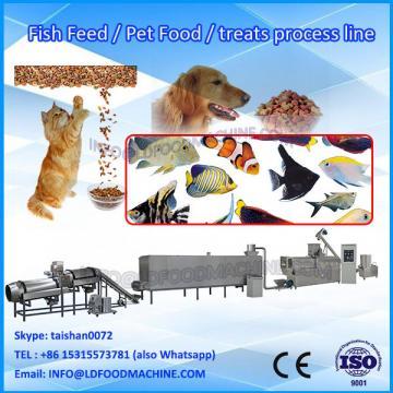 crispy kibble pet dog food extruder process line/ cat food making machine