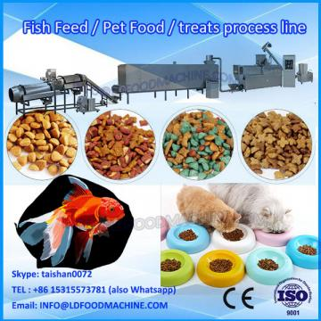 China stainless steel extruded cat feed producing plant /pet food machine/poultry food making line