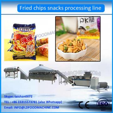 Energy saving fried snacks production line/flour puff snack chips machine