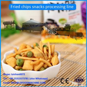 Automatic Extruded Fried Wheat Flour Snacks Crispy Chips Machine