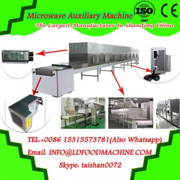 Tunnel continuous microwave conveyor machine for drying and sterilizing wheat germ