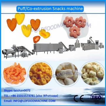 Core filling and inflating snacks process line
